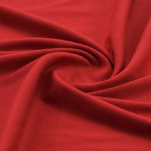 Red - Plain 100% Cotton Interlock Double Jersey